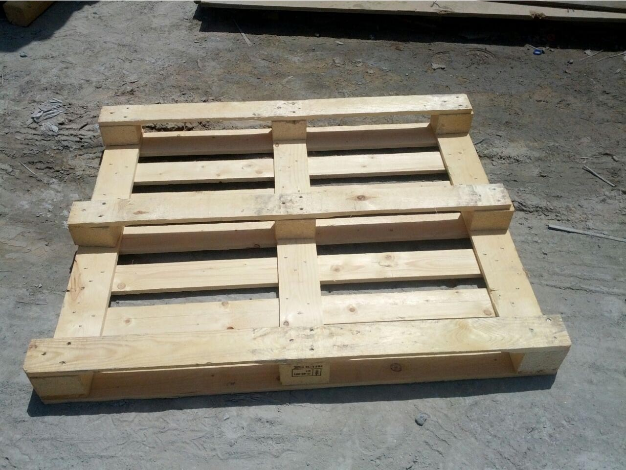 another view of a wooden pallet