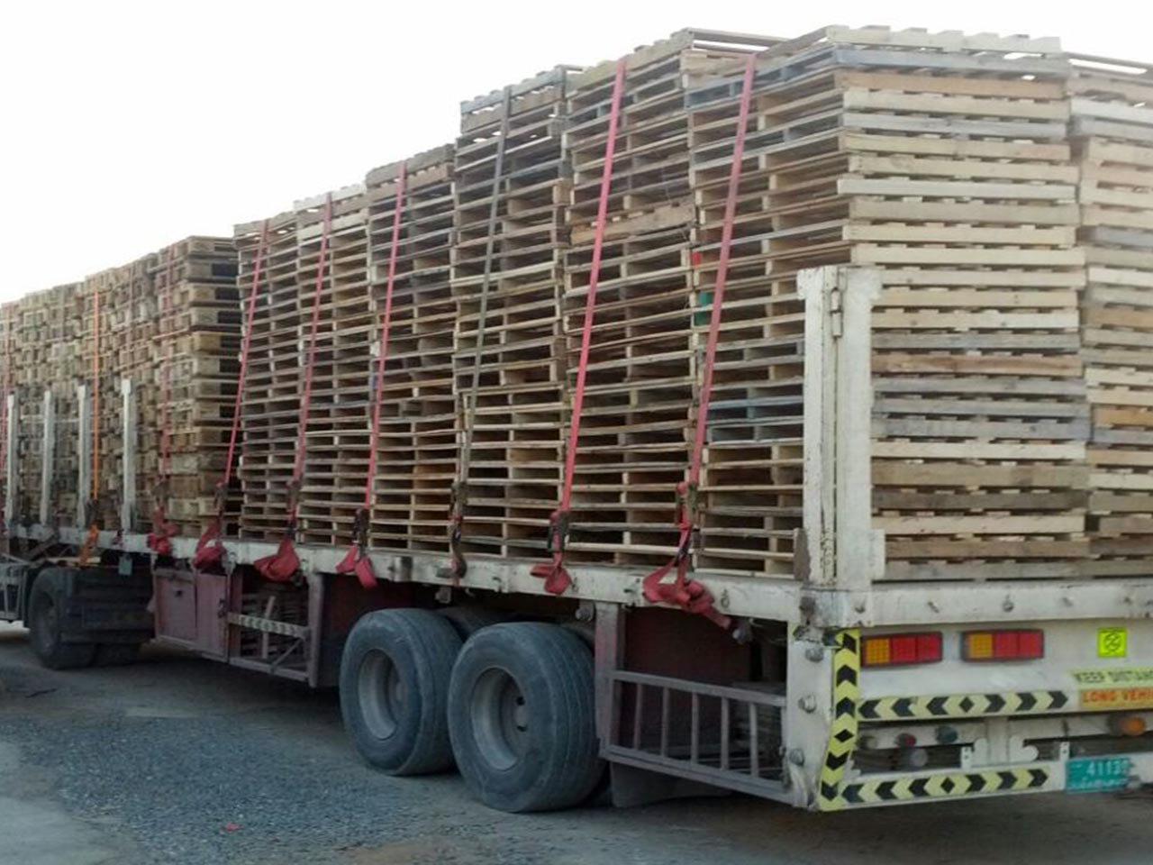 pallets on a truck