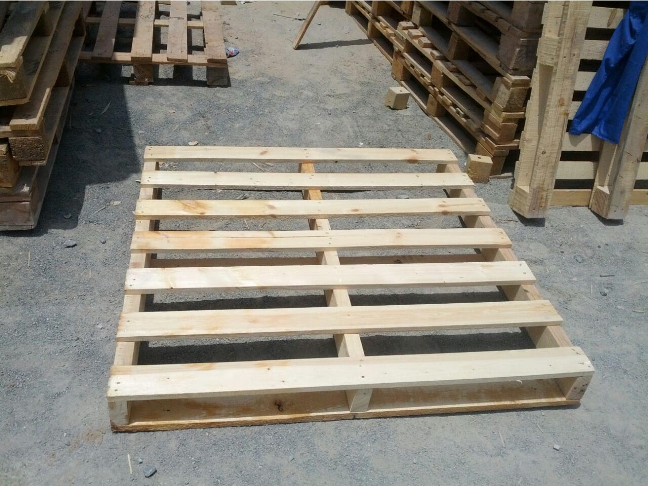 pallets stored
